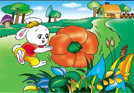 一年级看图说话小兔与小猪的伯劳写故事喂大麦虫突然抽搐图片